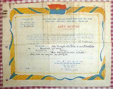 NLF CITATION - February 1967 - BEN TRE - Vietnam War - VC Youth Liberation Group