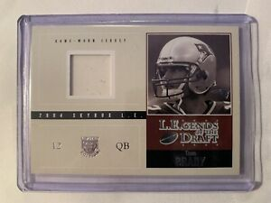 🔥2004 Tom Brady Fleer SkyBox Legends of the Draft  Jersey Factory Mistake 1/1🔥