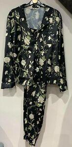 New Ex M&S Long Sleeve Button Printed Pyjama Set Womens 10-12-14-16-18-20