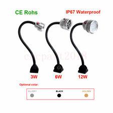 3W/6W/12W Waterproof Flexible LED Lamp Working Light Fixed Base CNC Mill Drill