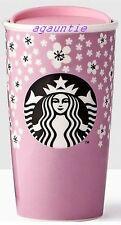 Asia LtdEdition Starbucks Cherry Blossom Sakura Double Wall Traveler MUG Tumbler