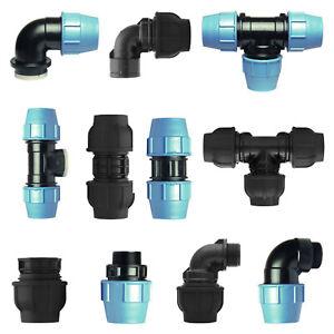 DVGW PE Klemmfittings Fittings PE Rohr Verschraubung Klemmverbinder Trinkwasser
