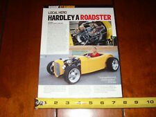 HARLEY DAVIDSON V TWIN 1200cc POWERED ROADSTER - ORIGINAL 2012 ARTICLE