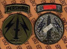US ARMY 56th FA Field Artillery Brigade OD Green & Black uniform patch tab set