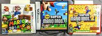 Super Mario Nintendo 3DS / DS Lot : 3D Land Mario Bros. 1 & 2 - Authentic CIB