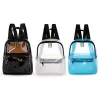 Clear Transparent Women Backpacks PVC Jelly Teenage Girls Student Schoolbag P4PM