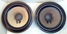 "PEERLESS 8"" BASS WOOFER  DRIVER  SPEAKERS 8 OHM ALNICO MATCHED PAIR TEST GWO"