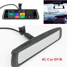 "10"" Touch Screen 4G Car HD DVR Dual Camera Android Mirror GPS Bluetooth Dash Cam"