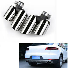 For Porsche Macan 2.0T Base 2014-2018 Silver Exhaust Tips Muffler Pipe 2pcs MO