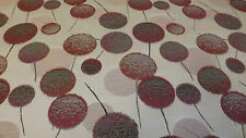 QUALITY UPHOLSTERY FABRIC, SUPERB MODERN DANDELION DESIGN IN SHADES OF PINK.