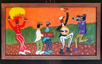"John Sperry Southern New Orleans Jazz Musicians Folk Art Painting ""The 2nd Line"""