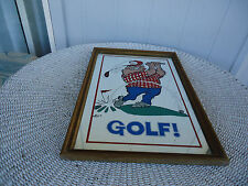 vintage retro golf bar wall mirror