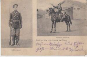 Carte Postale Poméranie Thorn Gruß De Le Russe Grenze Cosaque 1914