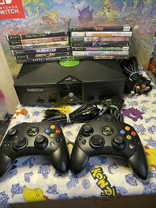 Microsoft Original Xbox Console Bundle W OEM S CONTROLLER ALL CORDS Tested Lot