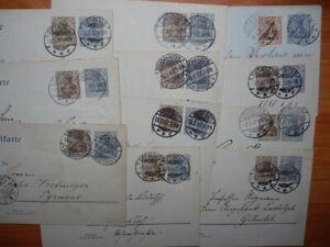 Konvolut Ganzsachen, Germania 2 und 3  Pfennig