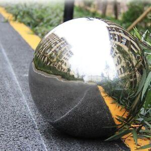 Seamless Sphere Hollow Reflective Ball Stainless Steel Garden Ornaments Decor