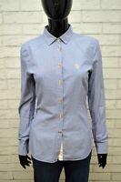 US POLO ASSN Donna Maglia Camicia Camicetta a Righe Blu Taglia S Shirt Woman