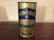 Trommer's Malt Beer (139-30) empty Oi flat top beer can by John F. Trommer, Nj