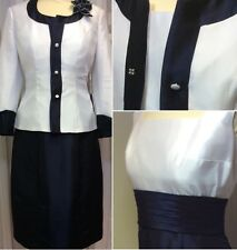 Polyester Jacket Patternless Dress Suits for Women
