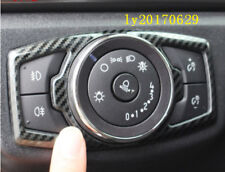 carbon fiber Interior Headlight switch button cover For Ford Fusion Mondeo 13-18