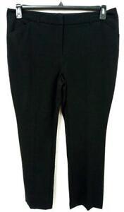 * Maurices black spandex stretch mid rise plus size straight leg pants 16R