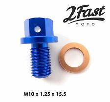 Yamaha YZ250F YZ450F Crankcase Replacement Magnetic Oil Drain Plug Bolt Blue