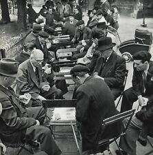 1955 Vintage 11x14 CARDS MEN Playing Park France Photo Art By ROBERT DOISNEAU