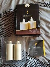 Luminara Real Moving Flame Effect Votive Flameless Candle Set  Ivory w/remote