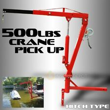 500 Lb Pickup Truck Hydraulic Pwc Dock Jib Engine Hoist Crane Hitch Mount Lifts