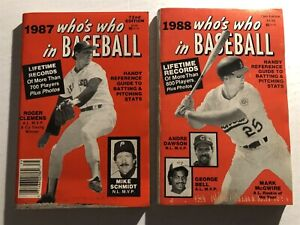 1987 1988 WHO'S WHO in Baseball Set of 2 Red Sox ROGER CLEMENS Mark McGWIRE A's