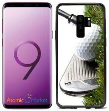 3 Iron Golf Club Hitting Golf Ball For Samsung Galaxy S9 2018 Case Cover
