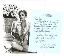 Joan Fontaine 1960s Photograph & Joan's Signed Handwritten Letter to Vera Wang
