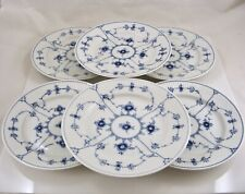 6 Royal Copenhagen Blue Fluted Plain Salad Plates 1/179