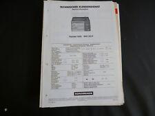 Original Service Manual Nordmende System 1800