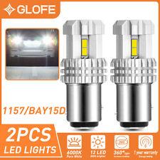 GLOFE 1157 2057 LED 6000K White Turn Signal Brake Reverse Parking Light Bulb