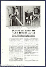 1929 PONSELL Floor Sander advertisement, Polisher, Refinish Floors Yourself