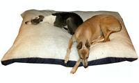 KosiPet® X Large Deluxe Waterproof Rhomboid Memory Foam Pad Dog Bed White Sherpa