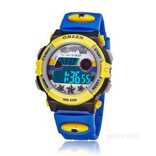 OHSEN Digital Sport AL School Watch For Child Boy Girl Wrist Watches Star Blue
