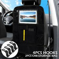 2X bolsa almacenamiento de asiento trasero automóvil coche Organizador+4 ganchos