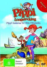 Pippi Longstocking Returns To Villa Villekullu Vol 1 DVD Region 4 (VG Condition)