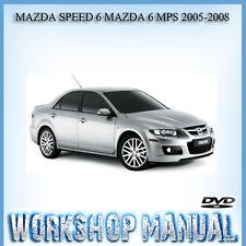 MAZDA SPEED 6 MAZDA 6 MPS 2005-2008 WORKSHOP REPAIR SERVICE MANUAL IN DISC