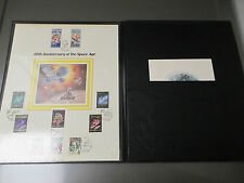 1977 Fleetwood 20th Anniversary of the SPACE AGE Stamps Tri-Fold Binder Booklet