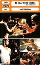 FICHE CINEMA : LE QUATRIEME HOMME - Krabbé,Soutendijk,Verhoeven 1983 The 4th Man