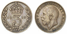 INGHILTERRA GREAT BRITAIN 3 PENCE 1913 KM #813  ARGENTO/SILVER #7610