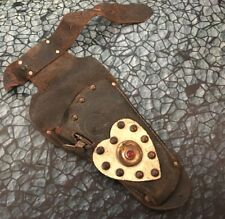 Vintage Keyston Bros Leather Cowgirl Cap Gun Holster Heart Detail childrens kids