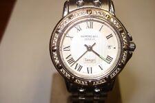 "Raymond Weil Diamond Bezel Women's 'Tango"" Cal 5360 Swiss Made Day Wrist Watch"