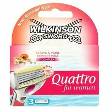 Wilkinson Sword Quattro for Women Papaya & Pearl Complex 3 Cartridges
