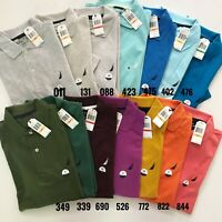 NWT Nautica Men's Classic Fit Short Sleeve Performance Deck Solid Polo Shirt
