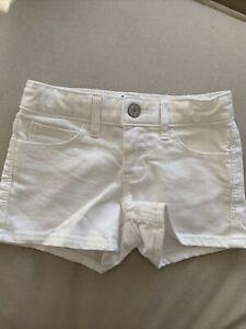 GAP girls size 6 white denim shorts