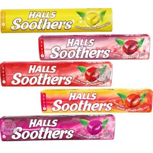 HALLS SOOTHERS BARS 45 g PACKS 5 TYPES FLAVORED SWEETS